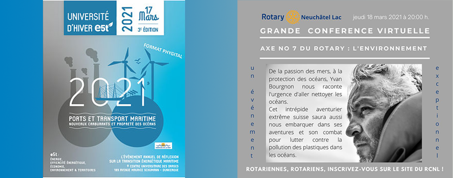 Webinaire à venir : E5T Dunkerque et Rotary de Neuchâtel Lac
